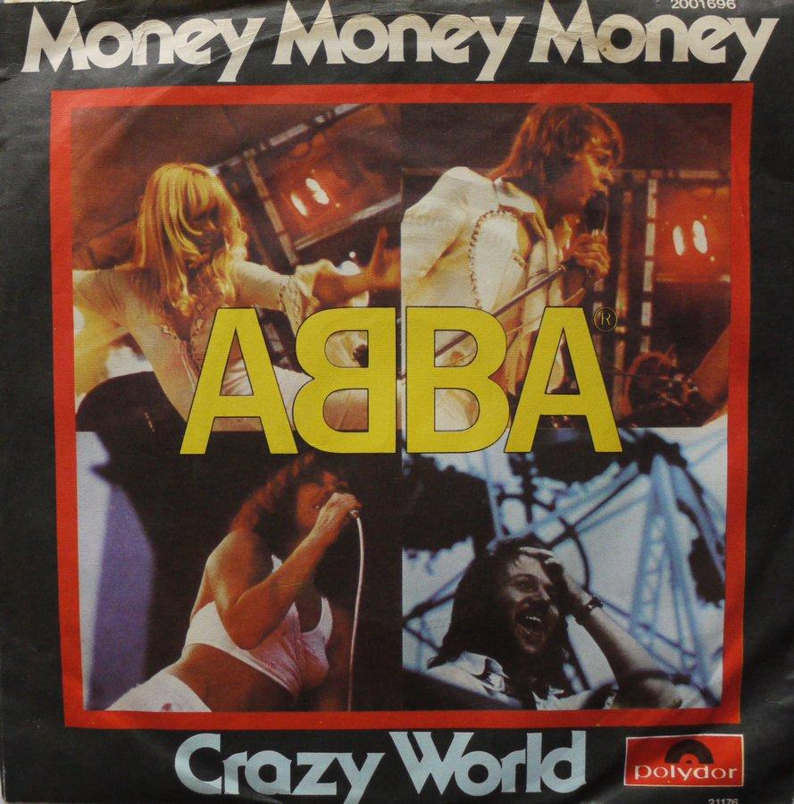 ABBA - Money Money Money / Crazy World - 45T x 1